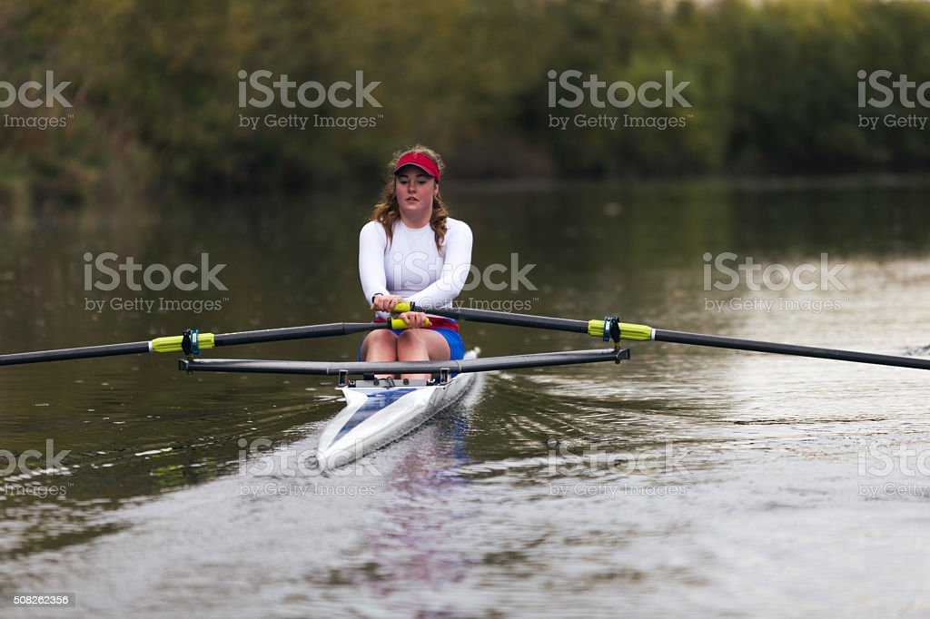 Female Club Rowers stock photo