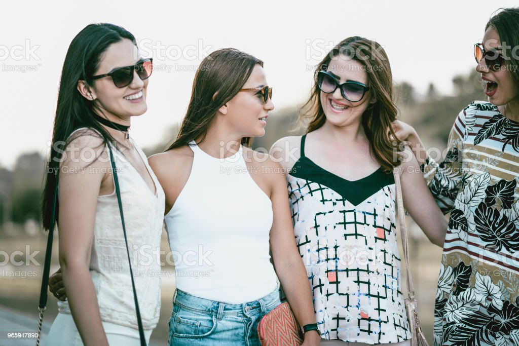 Female Colleagues Taking A Walk After Work - Royalty-free Beautiful People Stock Photo