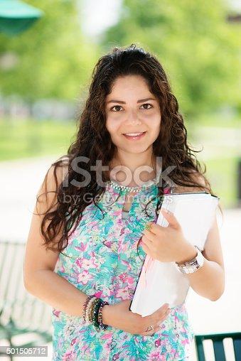 istock Female college student 501505712