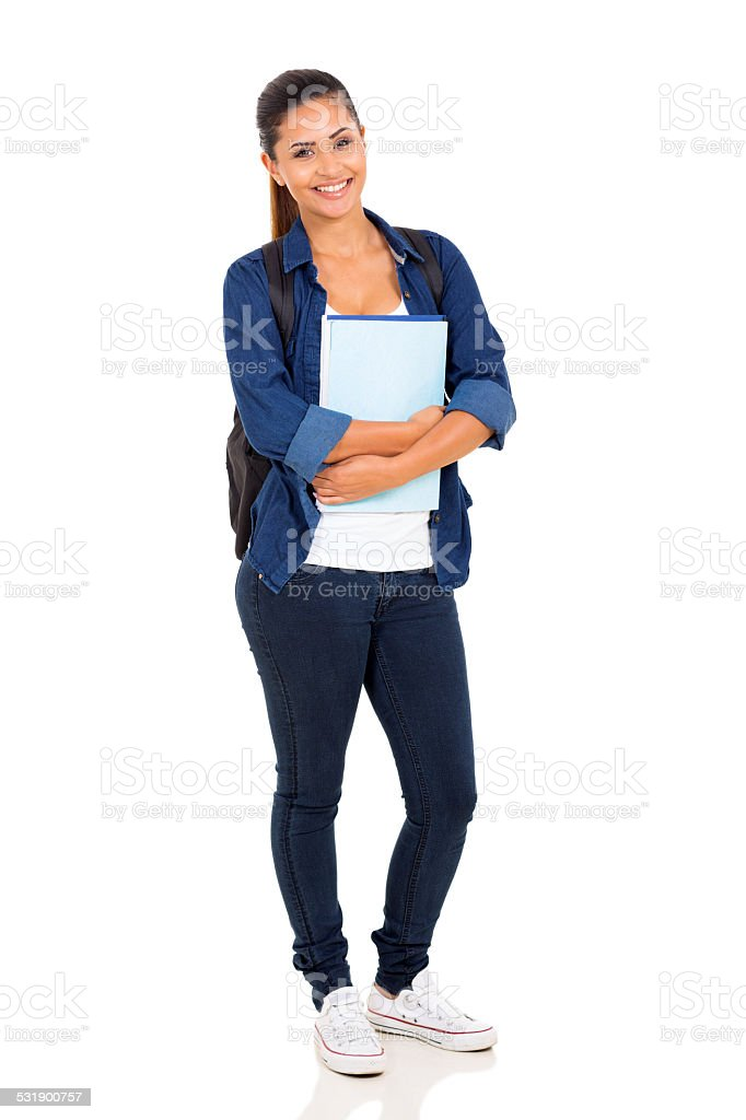 female college student stock photo