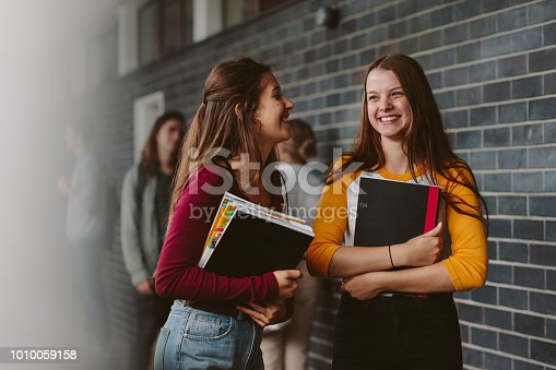 istock Female college students after lecture 1010059158