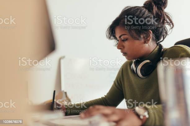 Female computer programmer working at her desk picture id1028676076?b=1&k=6&m=1028676076&s=612x612&h=r3ljjik9jna04wegenlankyffwxuzraxjvjwj0jr7x4=