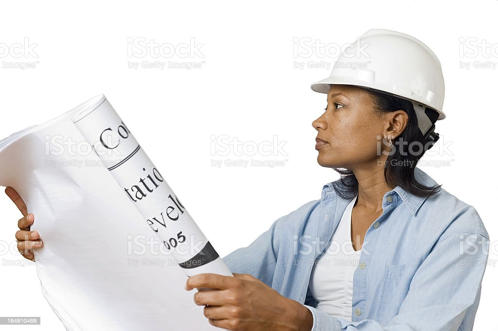 Female Construction Manager royalty-free stock photo