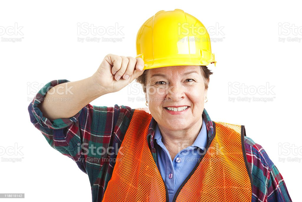Female Construction Worker Closeup royalty-free stock photo