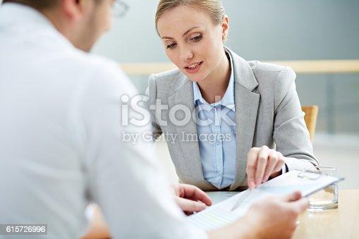 istock Female consultant 615726996