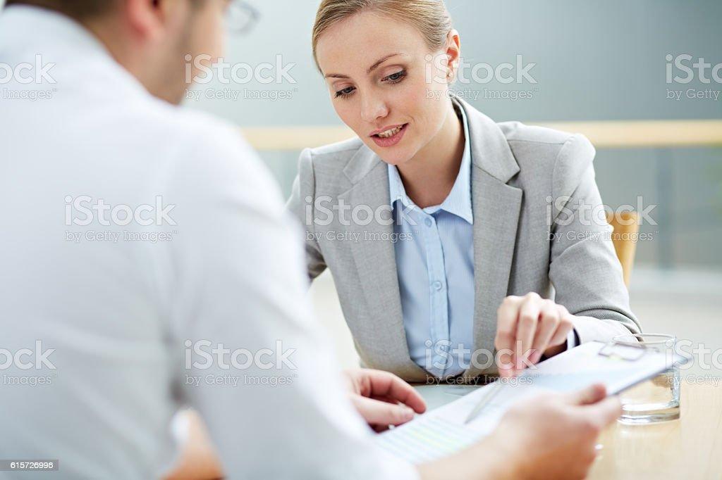 Female consultant stock photo
