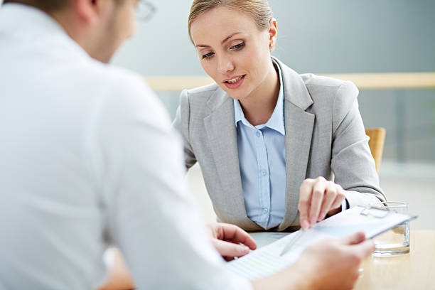 female consultant - bankers stock photos and pictures