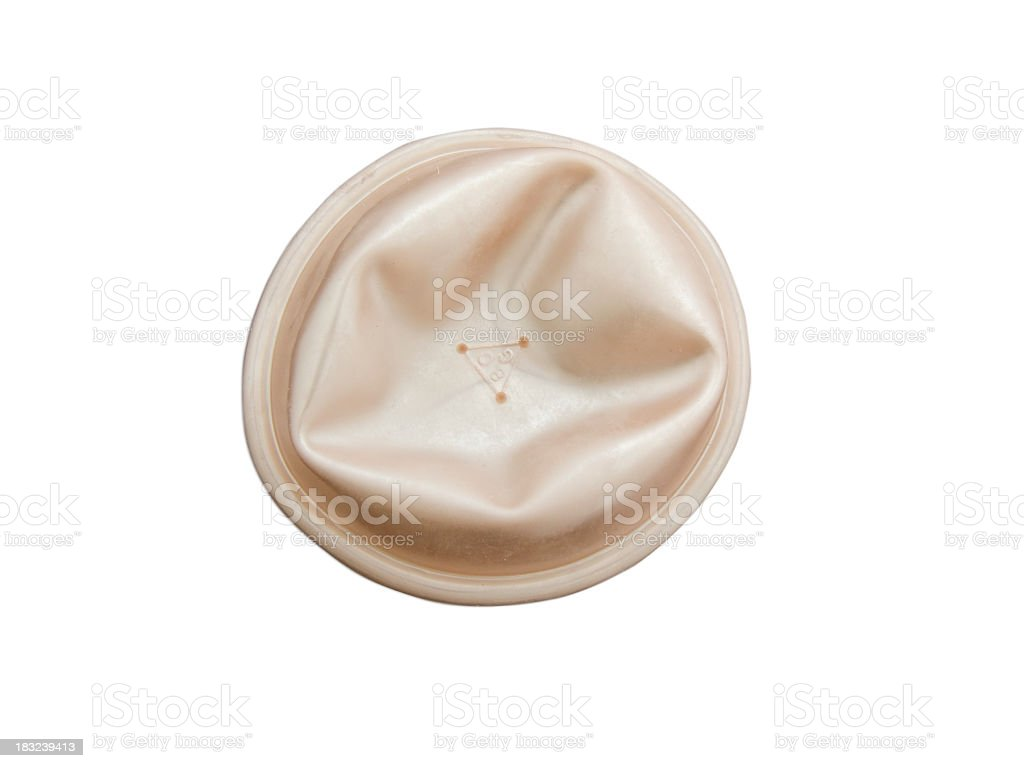 Female contraceptive diaphragm stock photo
