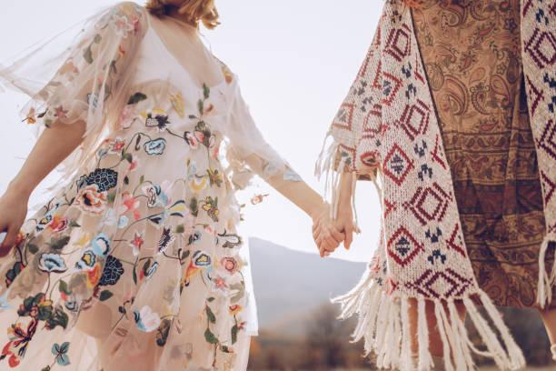 1 paar - hippie kleider stock-fotos und bilder