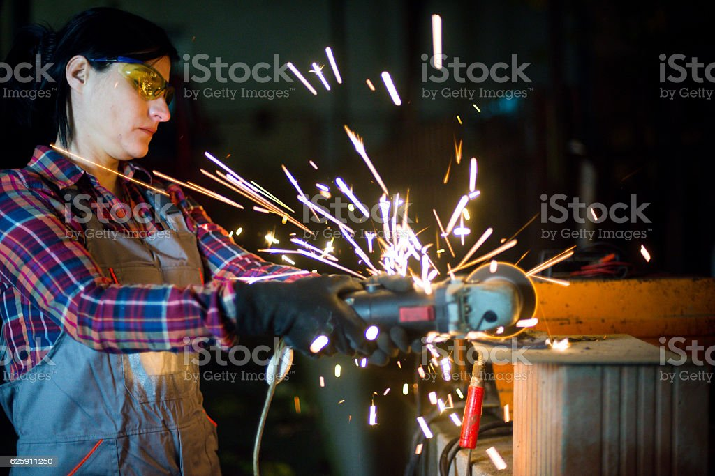 Female craftsman stock photo