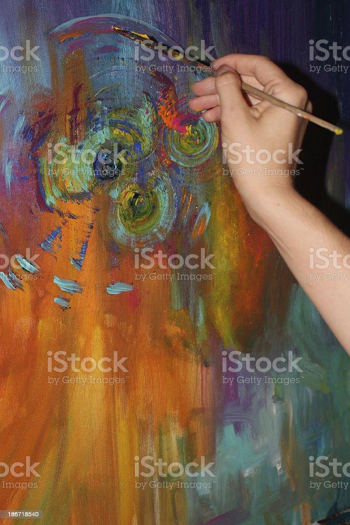 Female creative artist at work royalty-free stock photo