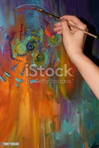 469937444 istock photo Female creative artist at work 186718540