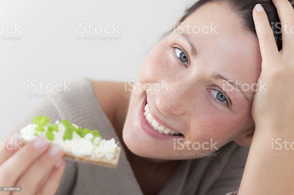 female crisp bread royalty-free stock photo