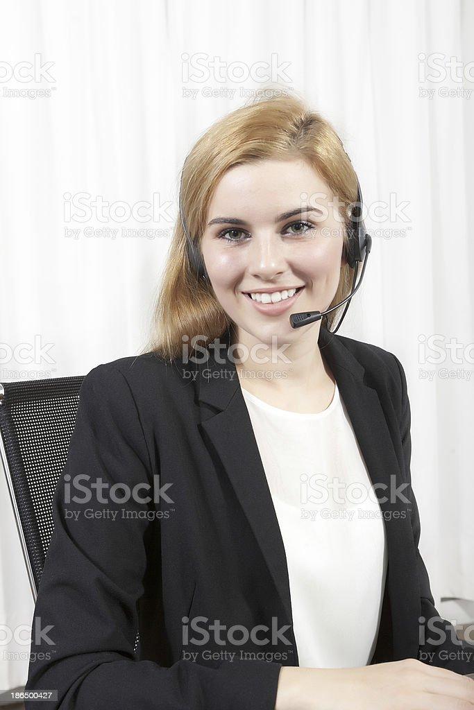 female customer service royalty-free stock photo