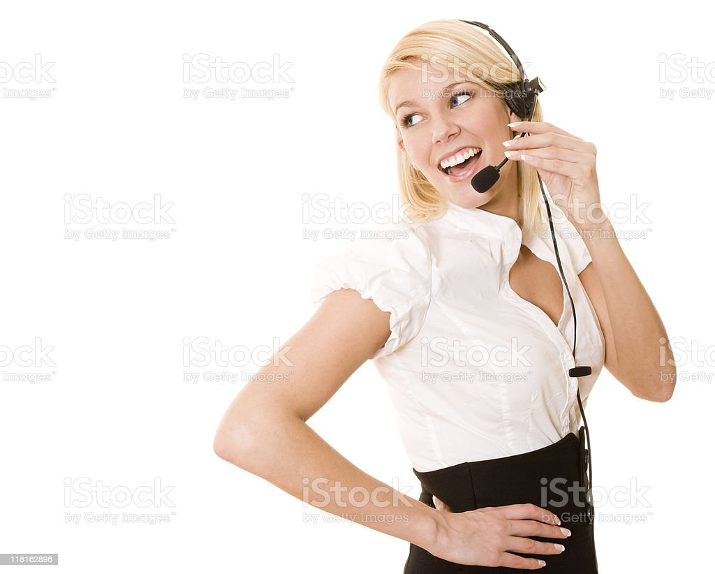 Female customer support royalty-free stock photo