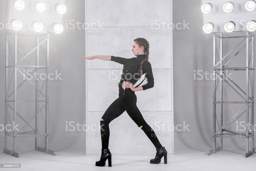 Female Dancer In Modern Style stock photo