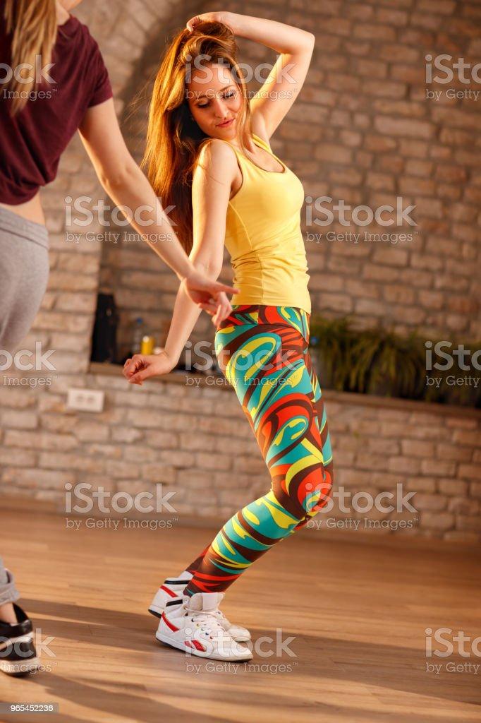Female dancing in dancing studio royalty-free stock photo