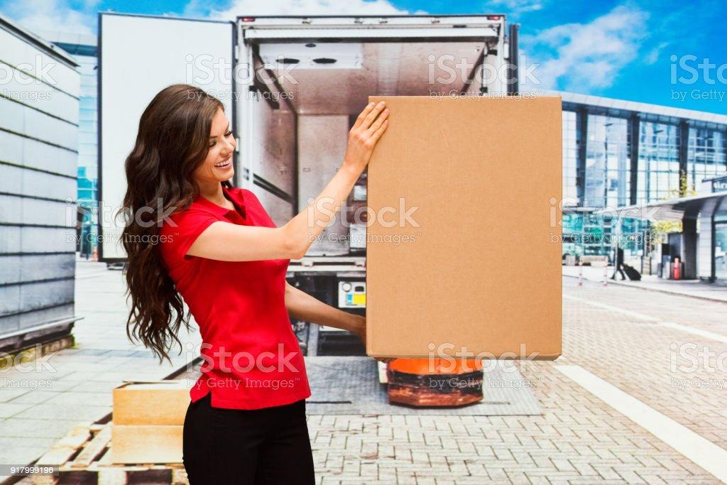 Female delivery person
