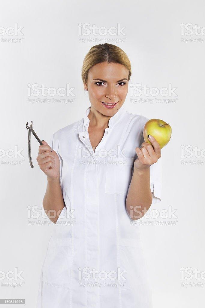 female dentist royalty-free stock photo