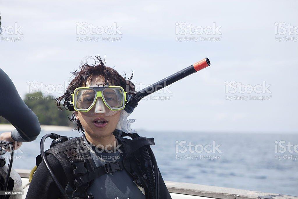female diver stock photo