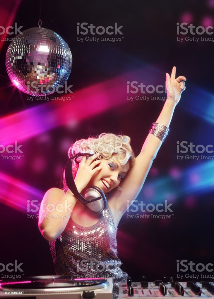 Female DJ Disco royalty-free stock photo