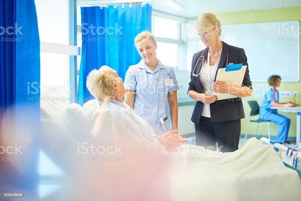 female doctor checking on patient zbiór zdjęć royalty-free
