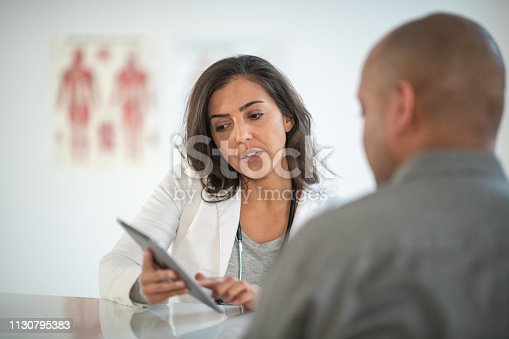 istock Female Doctor Counseling Patient in Medical Office 1130795383