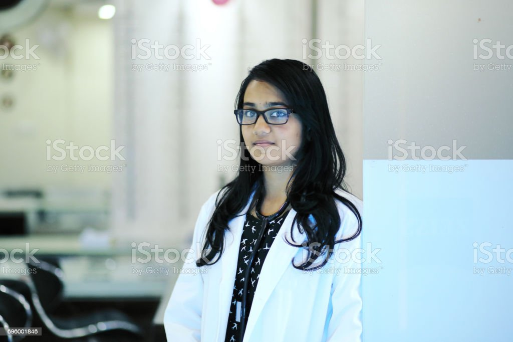 Female Doctor in the Medical Clinic stock photo