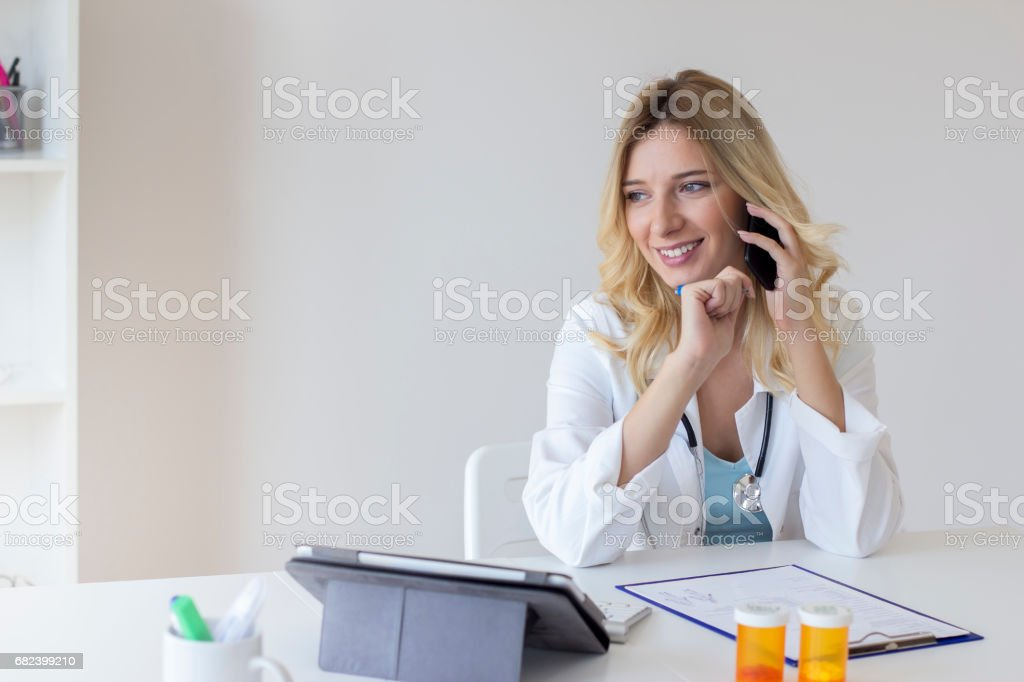 Female doctor in the office royalty-free stock photo