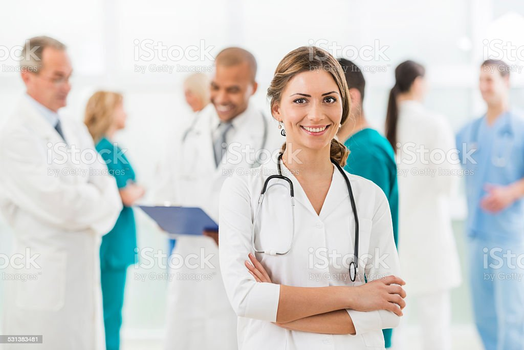 Female doctor. stock photo