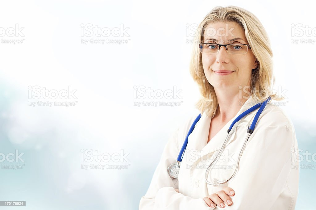 Female doctor portrait royalty-free stock photo