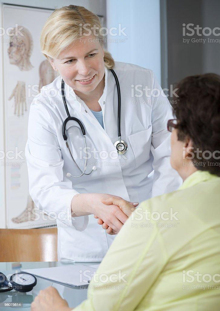 Presso l'ufficio medici foto stock royalty-free
