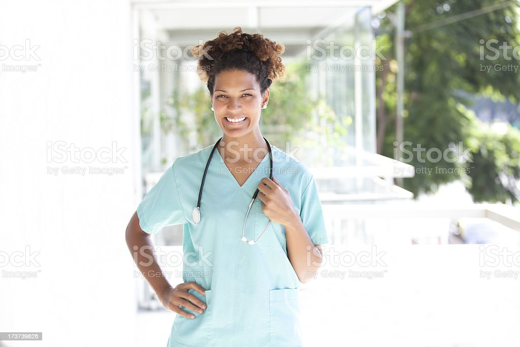 Female doctor smiling royalty-free stock photo