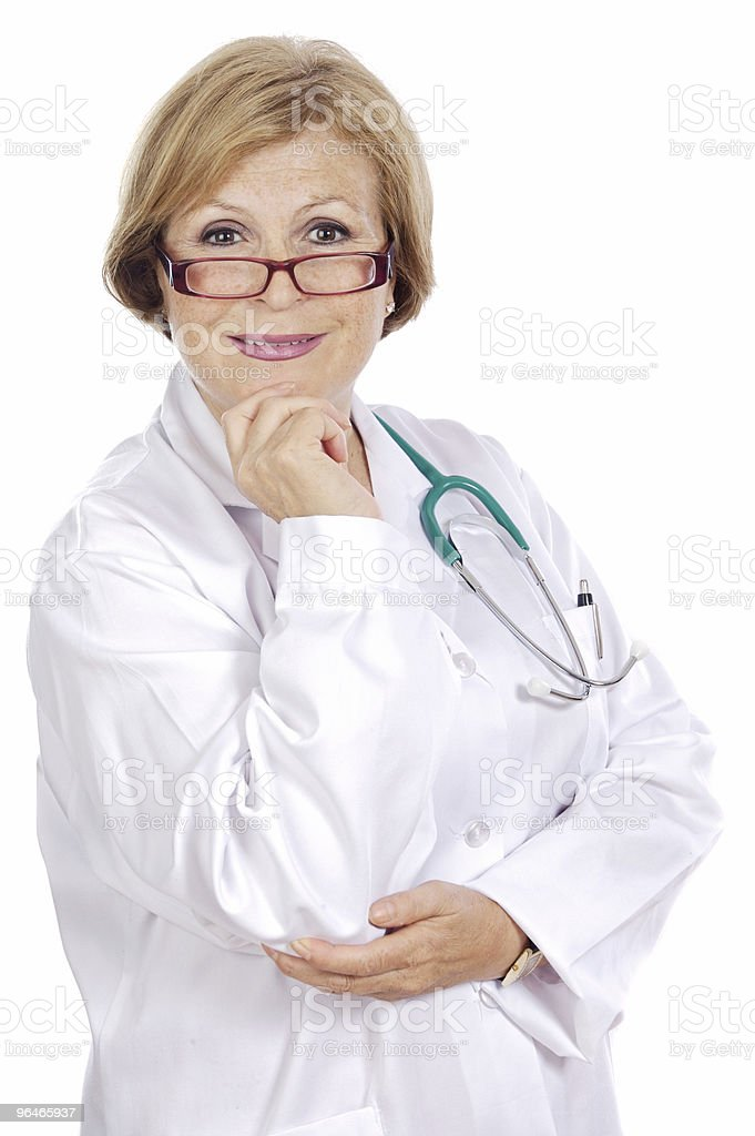 Female doctor thinking royalty-free stock photo