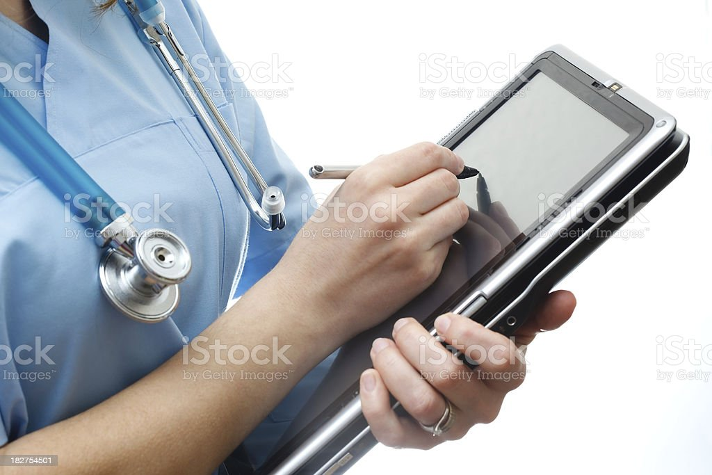 Female doctor using digital tablet in the hospital royalty-free stock photo