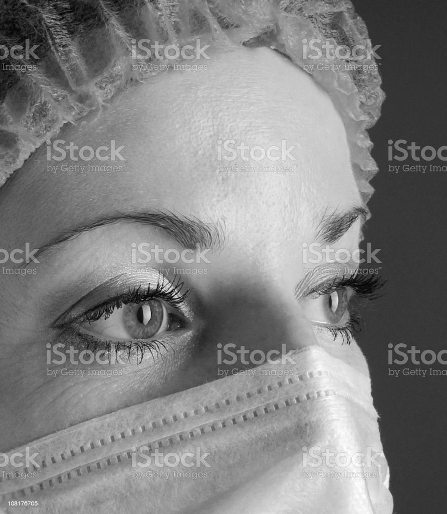 Female doctor wearing a mask royalty-free stock photo