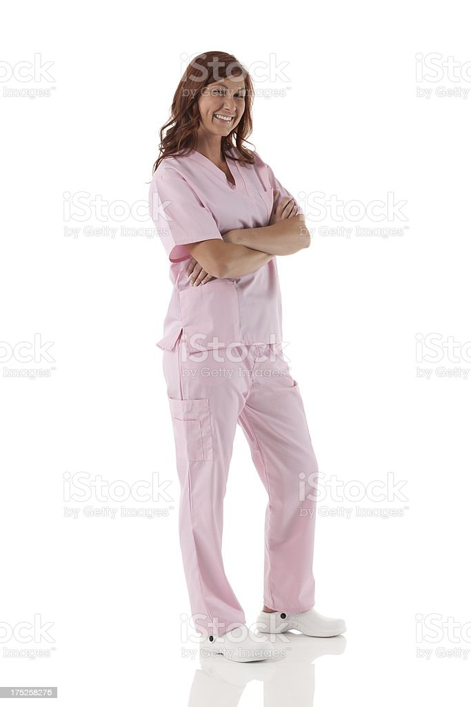 Female doctor with arms crossed royalty-free stock photo
