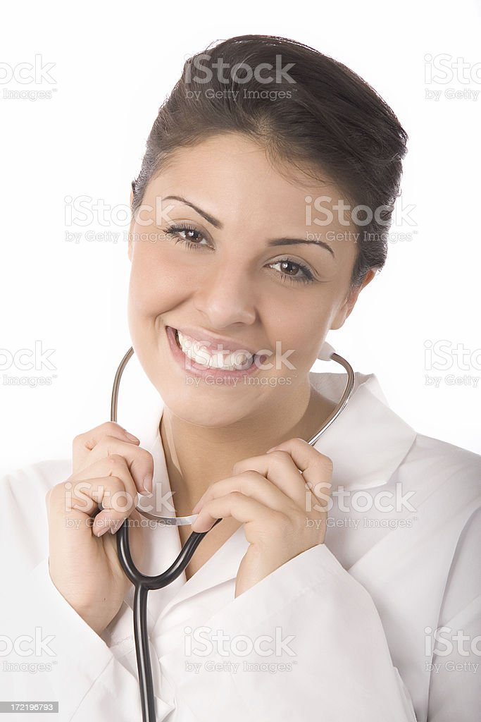Female Doctor with Stethoscope royalty-free stock photo