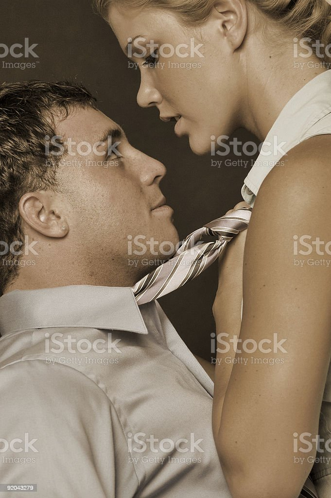 Female dominance in the workplace stock photo