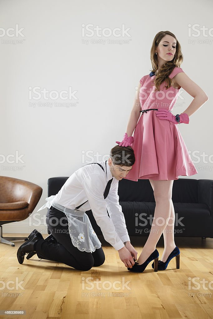 Female Dominating Her Husband stock photo