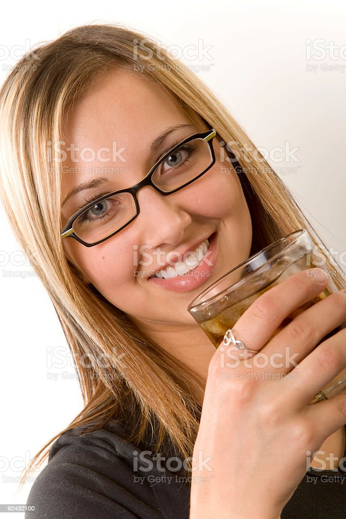 Female Drinking royalty-free stock photo