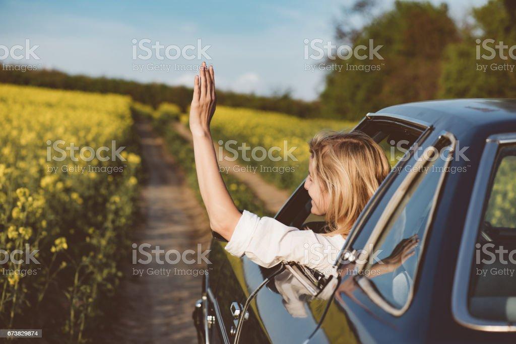 Femme conducteur photo libre de droits
