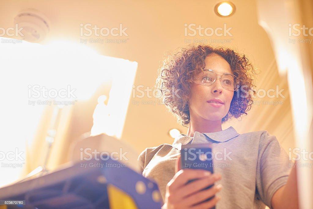 female electrician stock photo
