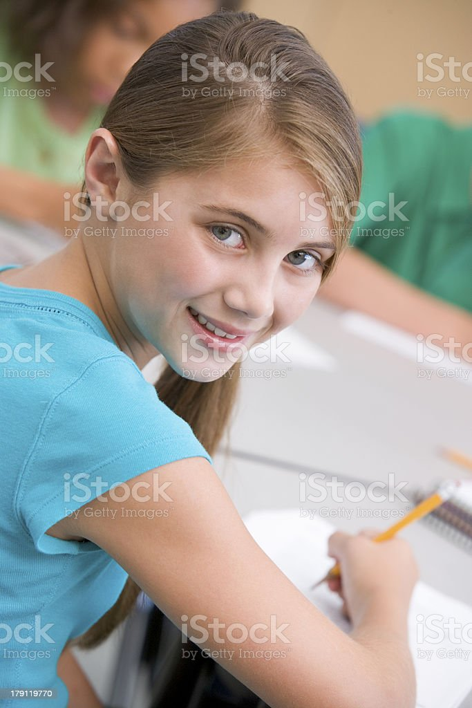 Female elementary school pupil royalty-free stock photo