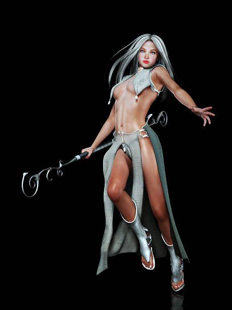 weibliche elf fantasy-figur - elfenkostüm damen stock-fotos und bilder