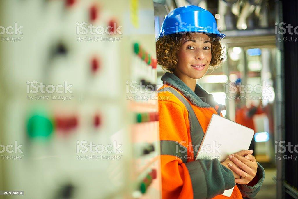 Femme Ingénieur photo libre de droits