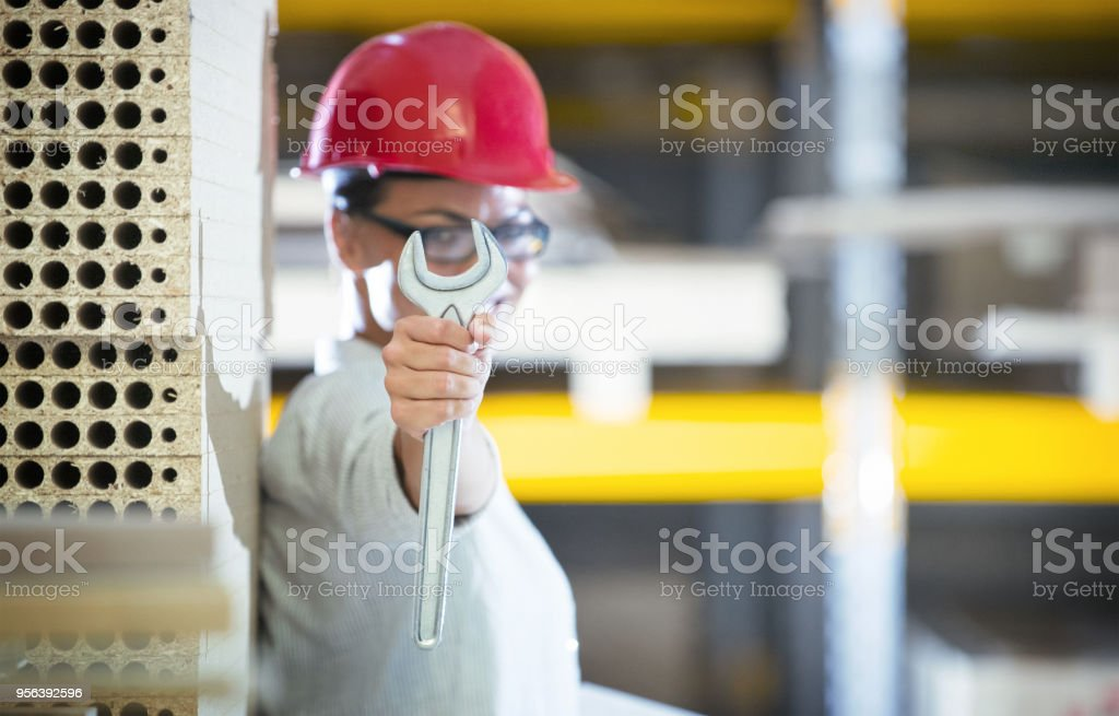 Female engineer. stock photo