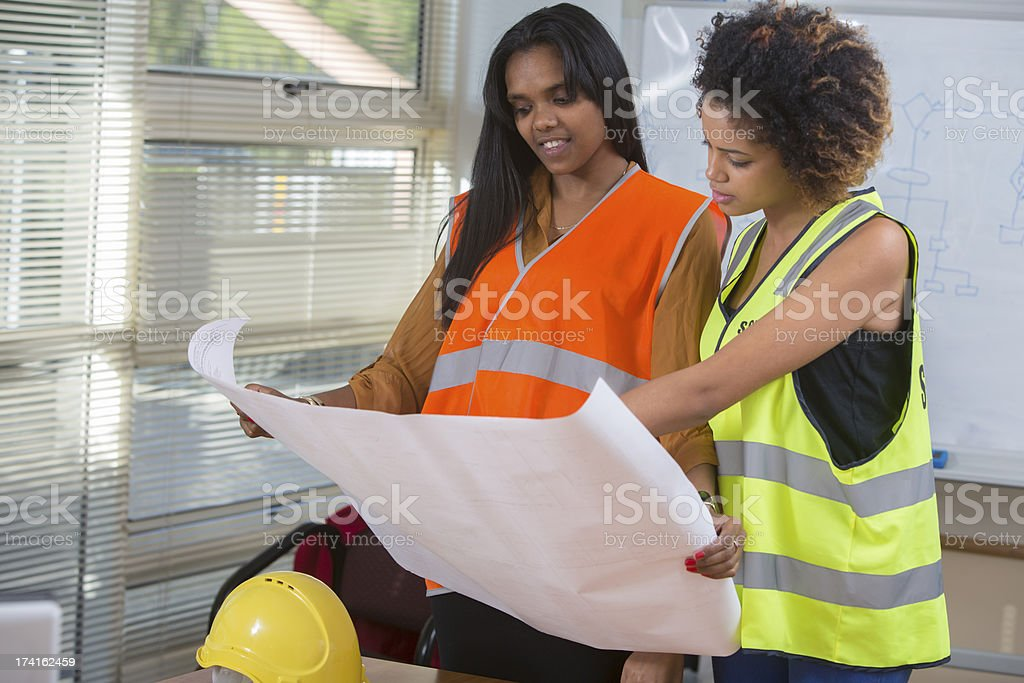 Female Engineers Construction Work stock photo
