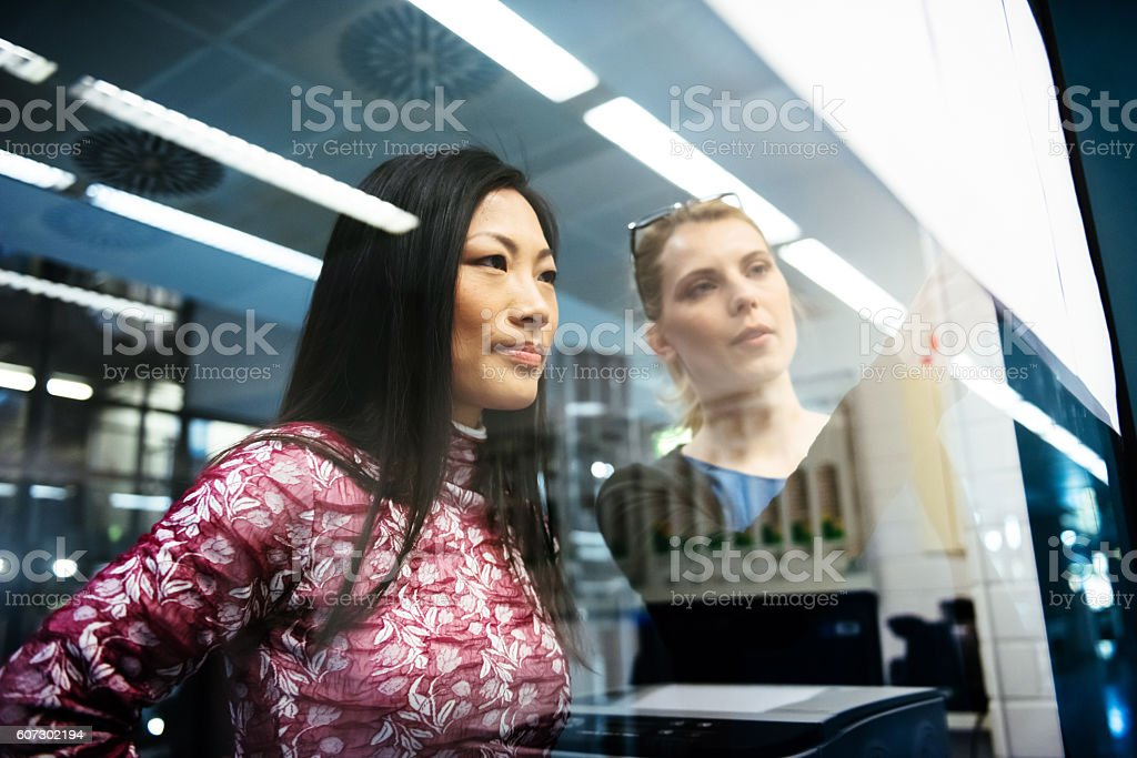 Female Engineers Discussing stock photo