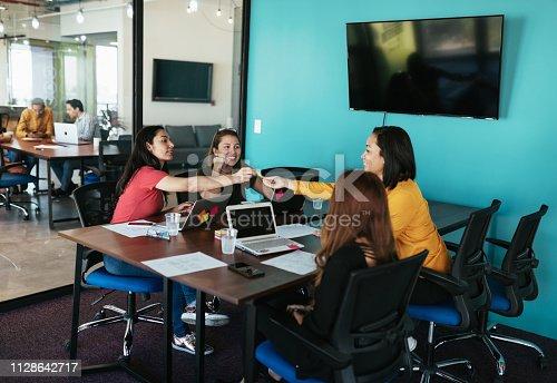 istock Female entrepreneurs on the meeting 1128642717